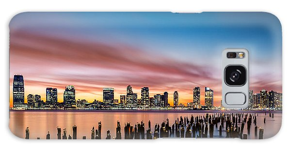 Jersey City Skyline At Sunset Galaxy Case