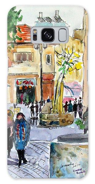 Jerusalem Street Scene Galaxy Case