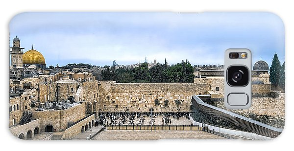 Galaxy Case featuring the photograph Jerusalem The Western Wall by Ron Shoshani