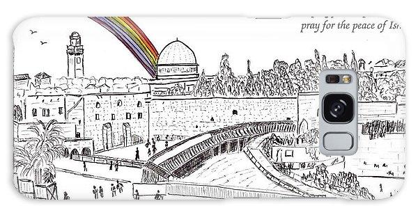 Jerusalem With Rainbow Galaxy Case