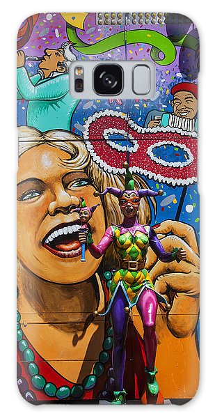 County Fair Galaxy Case - Jester Statue At The Fair by Garry Gay