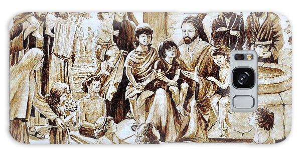 Jesus And Children Galaxy Case