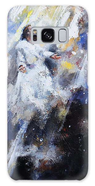 Jesus Ascending Galaxy Case by Carole Foret