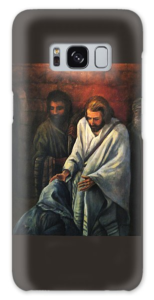 Jesus Healing Beggar Galaxy Case by Donna Tucker