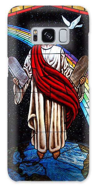Jesus In Stain Glass Galaxy Case