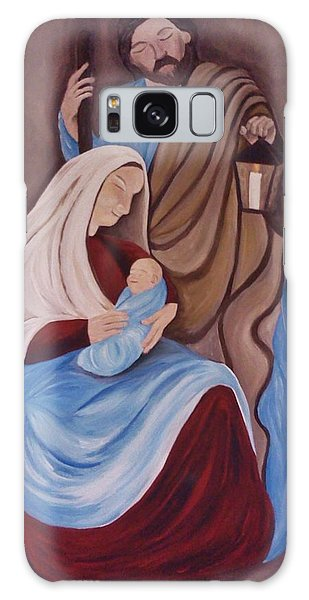 Jesus Joseph And Mary Galaxy Case by Christy Saunders Church