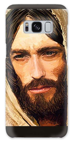 Jesus Of Nazareth Portrait Galaxy Case