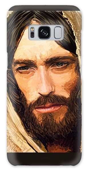 Jesus Of Nazareth Portrait Galaxy Case