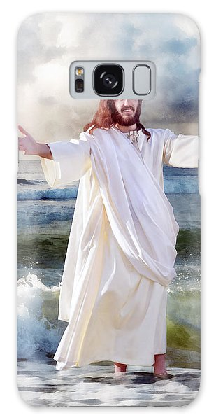 Jesus On The Sea Galaxy Case