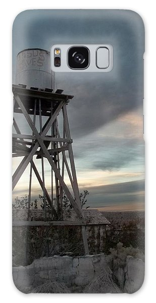 Jesus Saves Watertower - Route 66 Galaxy Case by Glenn McCarthy Art and Photography