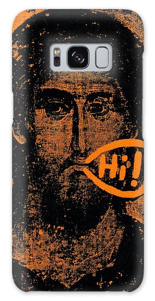 Jesus Says Hi Galaxy Case by Patrick Morgan
