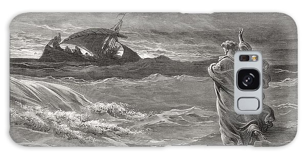 Engraving Galaxy Case - Jesus Walking On The Sea John 6 19 21 by Gustave Dore