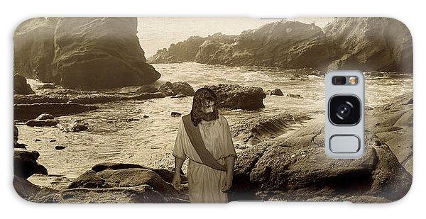 Jesus Walks Among Angels Galaxy Case
