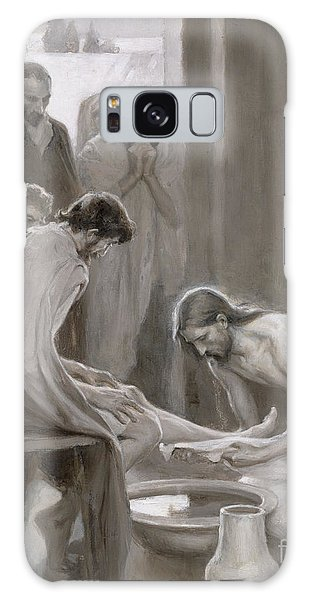 New Testament Galaxy Case - Jesus Washing The Feet Of His Disciples by Albert Gustaf Aristides Edelfelt