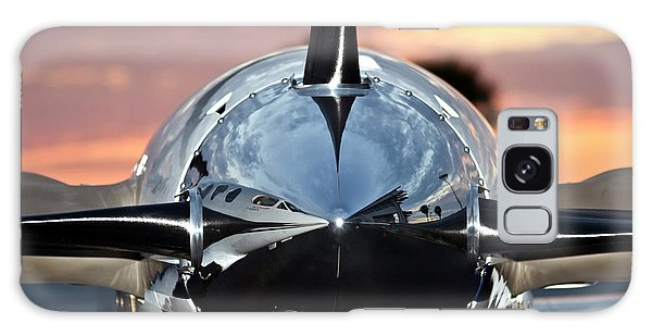 Galaxy Case featuring the photograph Airplane At Sunset by Carolyn Marshall