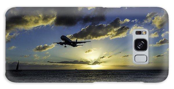 jetBlue landing at St. Maarten Galaxy Case