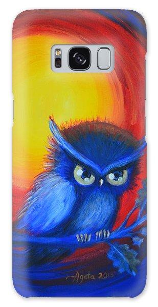 Jewel-tone Vortex With Owl Galaxy Case by Agata Lindquist