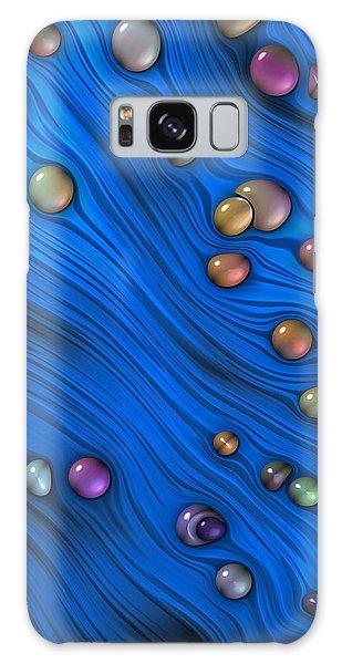 Jewels In Blue Flow Galaxy Case