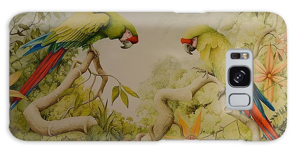 Jewels Of The Rain Forest  Military Macaws Galaxy Case