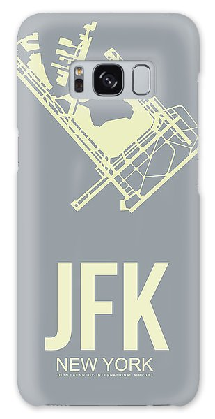 City Scenes Galaxy S8 Case - Jfk Airport Poster 1 by Naxart Studio