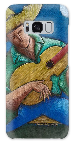 Galaxy Case featuring the painting Jibaro Bajo La Luna by Oscar Ortiz