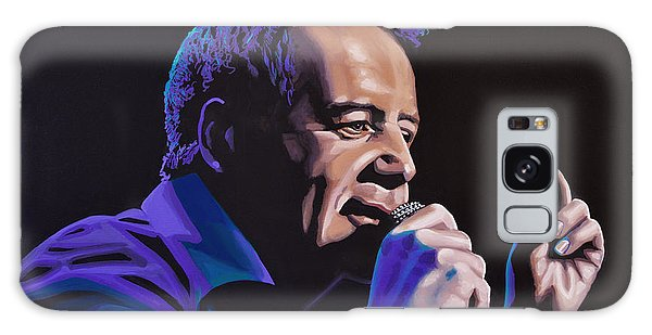 Punk Rock Galaxy Case - Jim Kerr Of The Simple Minds Painting by Paul Meijering