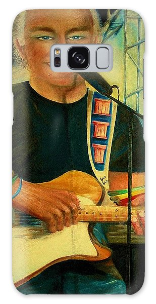 Jimmy Buffett In Paris Galaxy Case by Bernadette Krupa