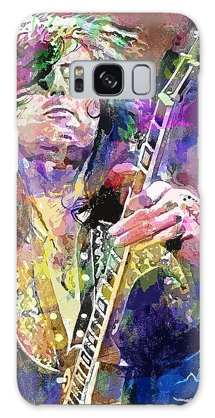 Led Zeppelin Galaxy Case - Jimmy Page Electric by David Lloyd Glover