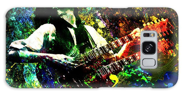 Jimmy Page - Led Zeppelin - Original Painting Print Galaxy Case