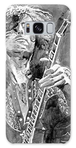 Jimmy Page Mono Galaxy Case by David Lloyd Glover
