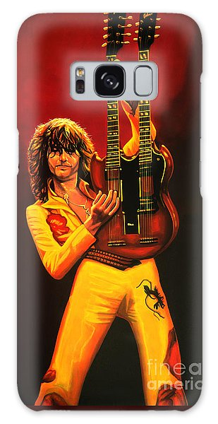 U2 Galaxy Case - Jimmy Page Painting by Paul Meijering