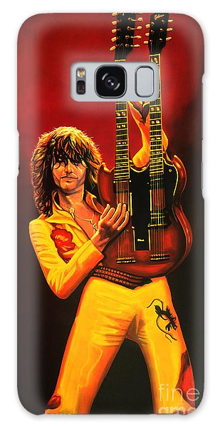 Physical Galaxy Case - Jimmy Page Painting by Paul Meijering