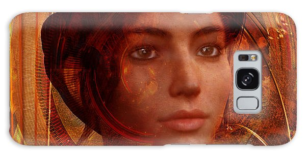 Joan Of Arc Holy Fire Galaxy Case by Suzanne Silvir