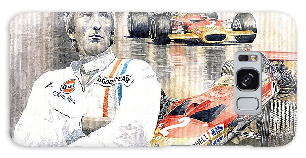 Portret Galaxy Case - Jochen Rindt Golden Leaf Team Lotus Lotus 49b Lotus 49c by Yuriy Shevchuk
