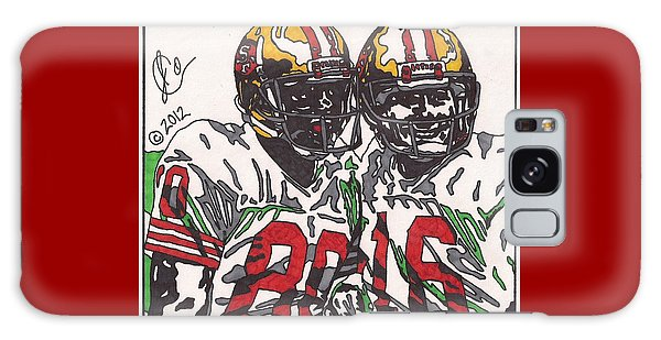 Joe Montana And Jerry Rice Galaxy Case by Jeremiah Colley