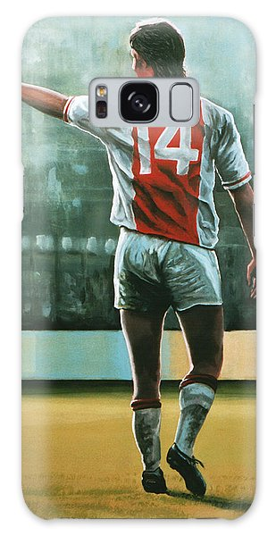 Soccer Galaxy S8 Case - Johan Cruijff Nr 14 Painting by Paul Meijering