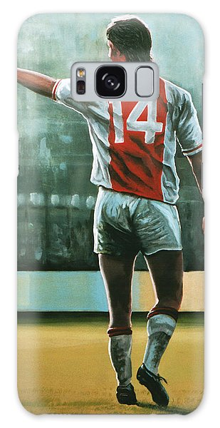 Sportsman Galaxy Case - Johan Cruijff Nr 14 Painting by Paul Meijering