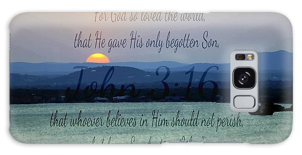 John 3 16 Lake Sunset Galaxy Case
