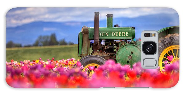 John Deere In The Tulips Galaxy Case