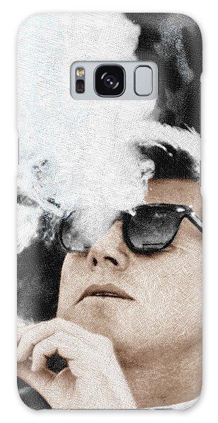John F Kennedy Cigar And Sunglasses Galaxy Case by Tony Rubino