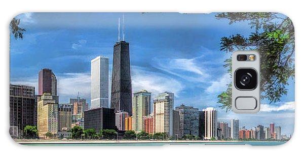 John Hancock Chicago Skyline Panorama Galaxy Case