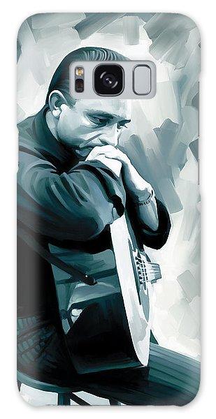 Johnny Cash Artwork 3 Galaxy Case