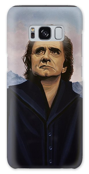 Rock And Roll Galaxy Case - Johnny Cash Painting by Paul Meijering