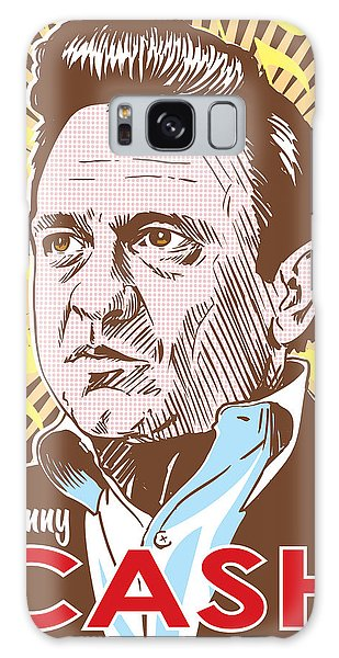 Actors Galaxy S8 Case - Johnny Cash Pop Art by Jim Zahniser