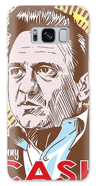 Actor Galaxy Case - Johnny Cash Pop Art by Jim Zahniser