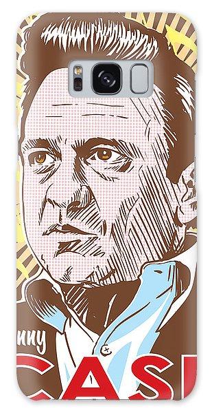 Celebrity Galaxy Case - Johnny Cash Pop Art by Jim Zahniser