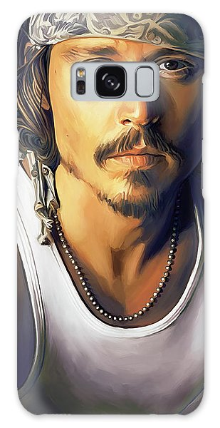 Johnny Depp Artwork Galaxy Case