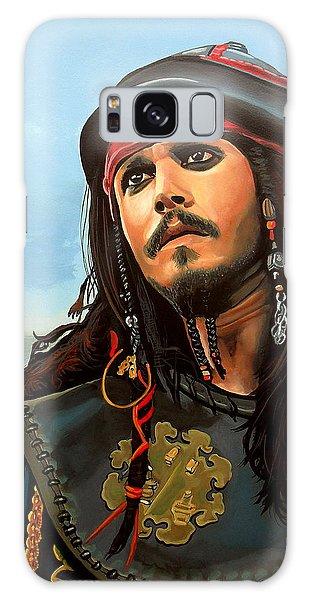 Tides Galaxy Case - Johnny Depp As Jack Sparrow by Paul Meijering