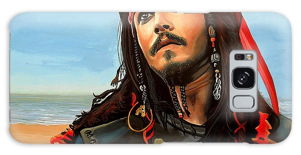 Realistic Galaxy Case - Johnny Depp As Jack Sparrow by Paul Meijering
