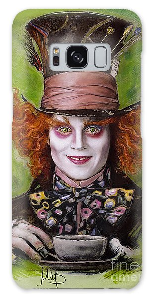 Johnny Depp As Mad Hatter Galaxy Case by Melanie D